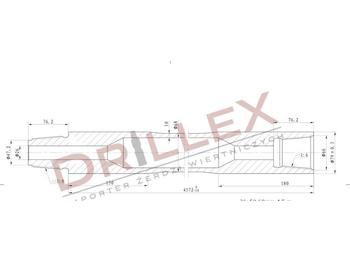 Vermeer D36x50 Φ68 4,5m Drill pipes, żerdzie  - implemento