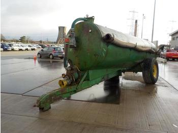 Single Axle Drawbar Slurry Tanker, PTO Driven Pump - remolque agrícola