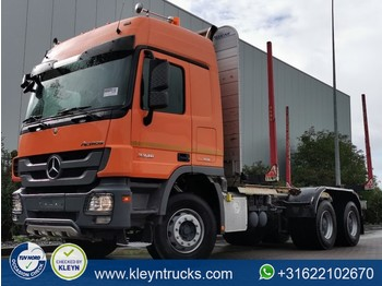 Transporte de madera Mercedes-Benz ACTROS 3346 6x4 full steel eps